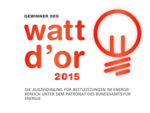 Logo Watt d'Or 2015 Deutsch