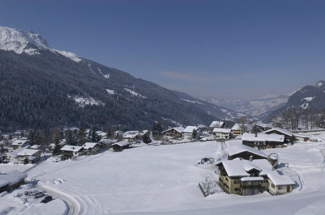 View winter Klosters Youth Hostel