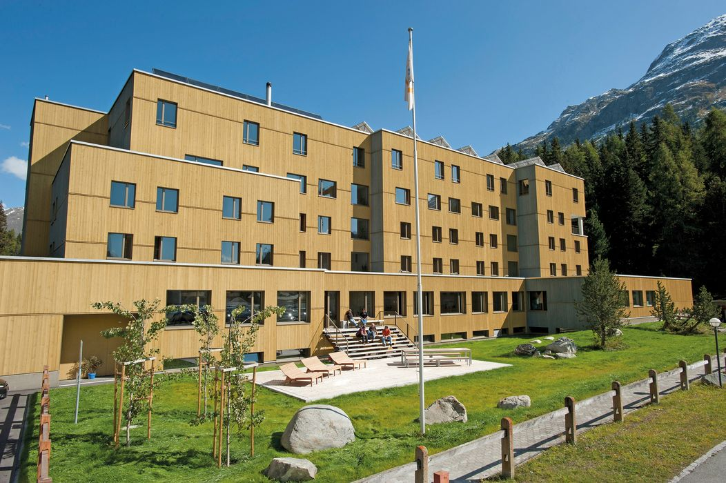 Exterior view summer St. Moritz Youth Hostel