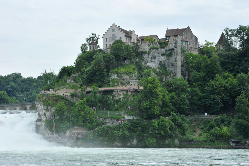 Outside view and Rhine falls Dachsen am Rheinfall Youth Hostel